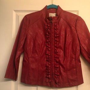 NWT!  Vegan leather PS red jacket!  💋